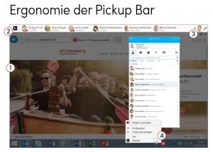 """Anrufe """"picken"""": Mit der PickupBar von IP Dynamics kommt diese Funktion in Skype for Business."""