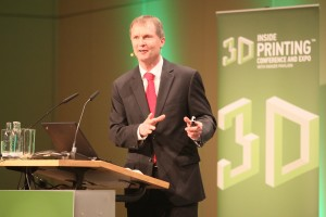 Terry Wohlers auf der Inside 3D Printing in Berlin